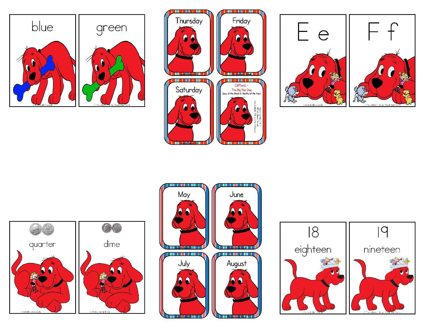 Clifford The Big Red Dog Printables