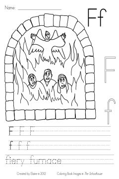 the fiery furnace coloring pages - photo#14