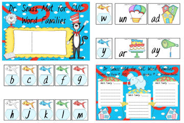 DrSeuss CVC WordFamilies Mat&Worksheet byElaine SAMPLE