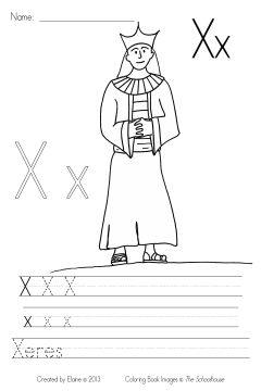 MyBibleABCs Xx write&color byElaine SAMPLE