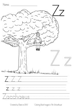 MyBibleABCs Zz write&color byElaine SAMPLE