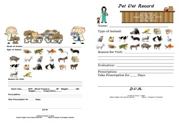 PetVet Record byElaine SAMPLE